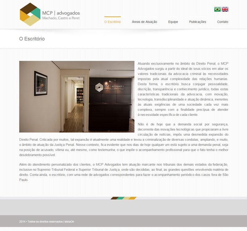 Criação de site para Advogados – MCP Advogados