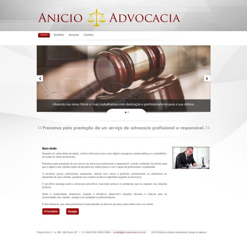 Criação de site para Advogados – Anicio Advogados