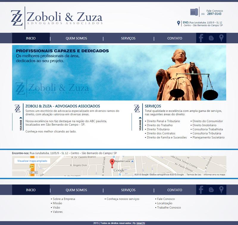 Criação de site para Advogados – Zoboli & Zuza