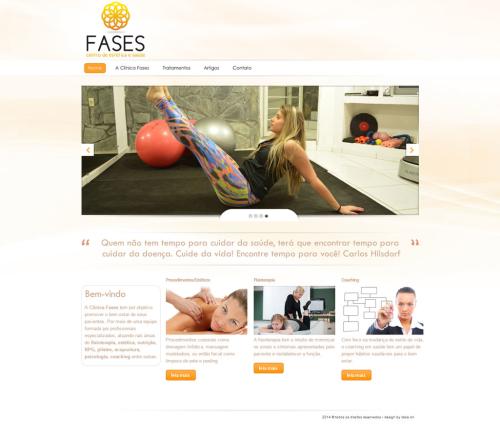 Criação de sites para Médicos Clinica Fases Estética