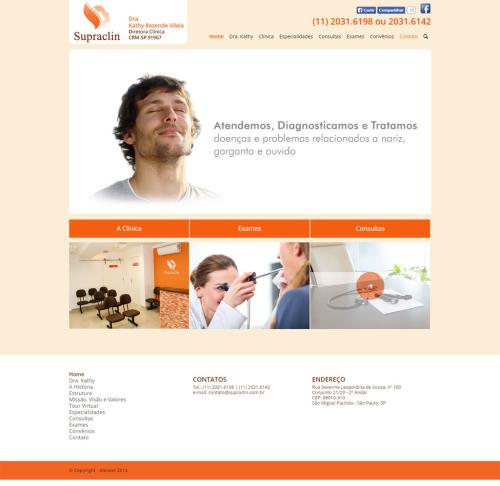 Criação de sites para Médicos Supraclin